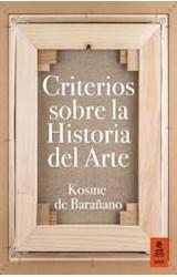 Papel CRITERIOS SOBRE LA HISTORIA DEL ARTE