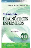 Papel MANUAL DE DIAGNOSTICOS ENFERMEROS (BOLSILLO) (INCLUYE E BOOK) (RUSTICA)
