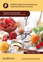 Libro Aprovisionamiento De Materias Primas En Cocina. Ho