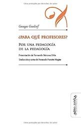 Libro Para Que Profesores? (80 Gr.)