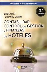 Libro Contabilidad , Control De Gestion Y Finanzas De Hoteles