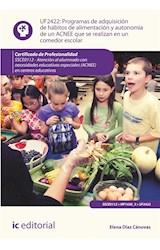 E-book Programas de adquisición de hábitos de alimentación y autonomía de un ACNEE que se realizan en un comedor escolar. SSCE0112