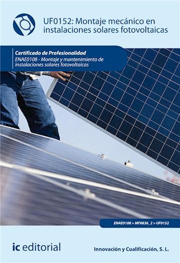 E-book Montaje Mecánico En Instalaciones Solares Fotovoltaica. Enae0108
