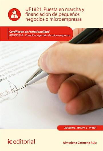 E-book Puesta En Marcha Y Financiación De Pequeños Negocios O Microempresas. Adgd0210