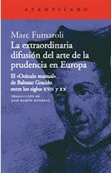 Papel LA EXTRAORDINARIA DIFUSION DEL ARTE DE LA PRUDENCIA EN EUROP