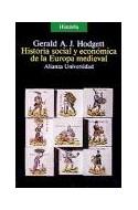 Papel HISTORIA SOCIAL Y ECONOMICA DE LA EUROPA MEDIEVAL (ALIANZA UNIVERSIDAD AU90)