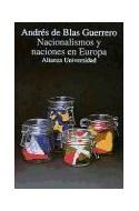Papel NACIONALISMO Y NACIONES EN EUROPA (ALIANZA UNIVERSIDAD AU781)