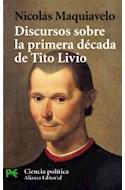 Papel DISCURSOS SOBRE LA PRIMERA DECADA DE TITO LIVIO [CIENCIA POLITICA] (CIENCIAS SOCIALES CS3407)