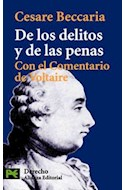 Papel DE LOS DELITOS Y DE LAS PENAS CON EL COMENTARIO DE VOLTAIRE (CIENCIAS SOCIALES CS3550)