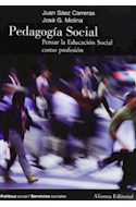 Papel PEDAGOGIA SOCIAL PENSAR LA EDUCACION SOCIAL COMO PROFESION (POLITICA SOCIAL /SERVICIOS SOCIALES)