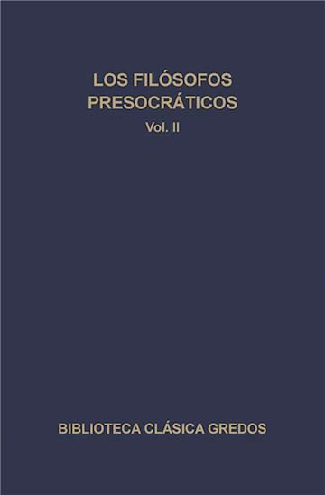 E-book Los Filósofos Presocráticos Ii