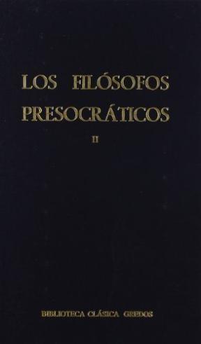 Papel Filosofos Presocraticos, Los (Tomo Ii)