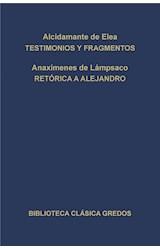 E-book Testimonios y fragmentos. Retórica a Alejandro.