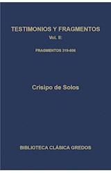 E-book Testimonios y fragmentos II. Fragmentos 319-606