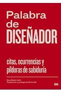 Papel PALABRA DE DISEÑADOR CITAS OCURRENCIAS Y PILDORAS DE SA  BIDURIA (CARTONE)