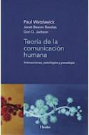 Papel TEORIA DE LA COMUNICACION HUMANA INTERACCIONES PATOLOGIAS Y PARADOJAS
