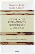 Papel HISTORIA DEL PENSAMIENTO FILOSOFICO Y CIENTIFICO (TOMO III) DEL ROMANTICISMO HASTA HOY (RUSTICA)