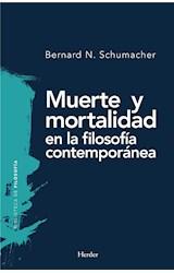 E-book Muerte y mortalidad en la filosofía contemporánea