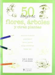 Libro 50 Dibujos De Flores Arboles Y Otras Plantas