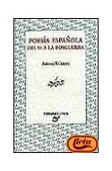 Papel POESIA ESPAÑOLA DEL 98 A LA POSGUERRA (PALABRA CRITICA)