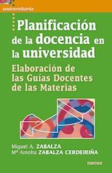 Libro Planificacion De La Docencia En La Universidad