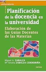 Papel PLANIFICACION DE LA DOCENCIA EN LA UNIVERSIDAD