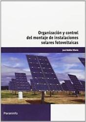 Libro Organizacion Y Control Del Montaje De Instalaciones Solares Fotovoltaicas