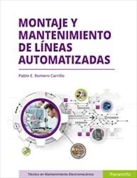 Libro Montaje Y Mantenimiento De Lineas Automatizadas
