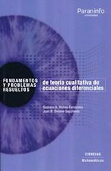 Libro Fundamentos Y Problemas Resueltos De Teoria Cualitativa