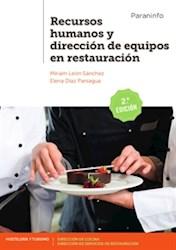 Libro Recursos Humanos Y Direccion De Equipos En Restauracion
