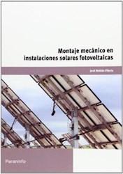 Libro Montaje Mecanico En Instalaciones Solares Fotovoltaicas