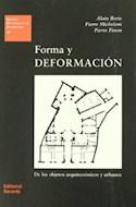 Papel FORMA Y DEFORMACION DE LOS OBJETOS ARQUITECTONICOS Y (ESTUDIOS UNIVERSITARIOS DE ARQUITECTURA 15) (R