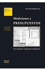 E-book Mediciones y PRESUPUESTOS. Para arquitectos e ingenieros de edificación