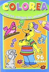 Papel Colorea Con Tus Amigos Los Animales - Celeste