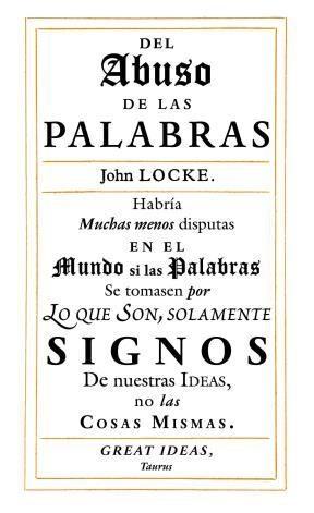 E-book Del Abuso De Las Palabras (Serie Great Ideas 35)