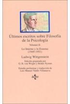 Papel ULTIMOS ESCRITOS (2) SOBRE FILOSOFIA DE LA PSICOLOGIA
