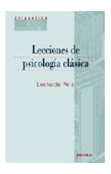 Papel LECCIONES DE PSICOLOGIA CLASICA