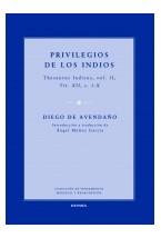 Papel Privilegios de los Indios