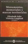 Papel Monumentos, Memoriales Y Marcas Territoriales (Memorias De L