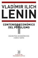 Papel CONTENIDO ECONOMICO DEL POPULISMO ESCRITOS ECONOMICOS 1 [1893 - 1899] (PENSAMIENTO CRITICO)
