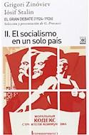 Papel GRAN DEBATE (1924 - 1926) II EL SOCIALISMO EN UN SOLO PAIS