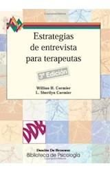 Papel ESTRATEGIAS DE ENTREVISTA PARA TERAPEUTAS