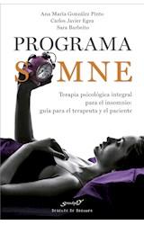 E-book Programa SOMNE. Terapia psicológica integral para el insomnio: guía para el terapeuta y el paciente