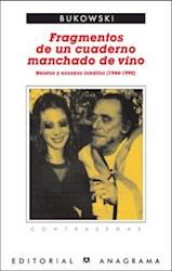 Papel Fragmentos De Un Cuaderno Manchado De Vino