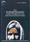 Papel La Fenomenología Como Teoría De Una Racionalidad Fuerte
