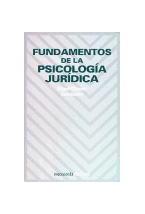 Papel FUNDAMENTOS DE LA PSICOLOGIA JURIDICA
