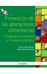 Papel PREVENCION DE LAS ALTERACIONES ALIMENTARIAS