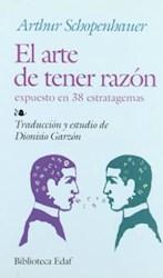 Papel Arte De Tener Razon, El