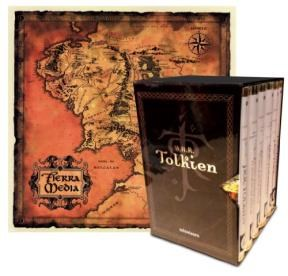 Papel Estuche Tolkien 6 Vols.+ Mapa De La Tierra