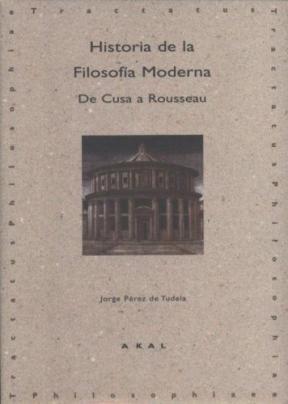 Papel Historia De La Filosofía Moderna: De Cusa A Rousseau